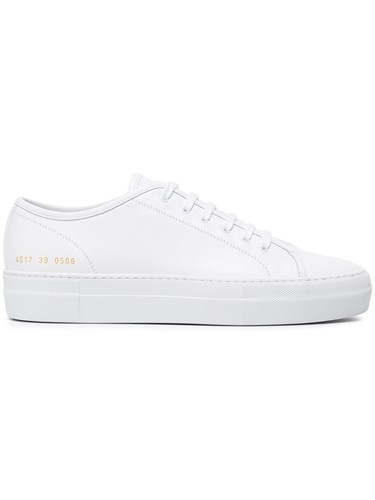 Leather Sneakers White Projects Common Tournament wtBXXp