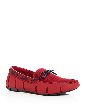 Swims Men's Braided Lace Rubber Loafers Red RqYuySK