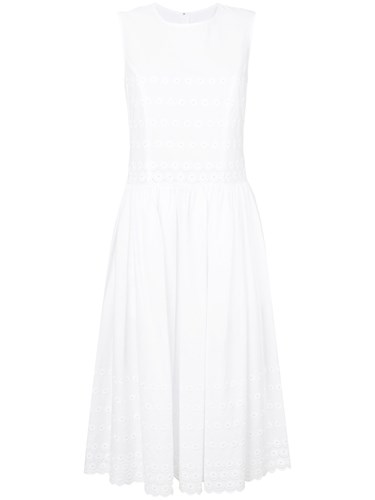 Comme des Garcons Floral Eyelet Embroidered Long White SVG6Yx3zB