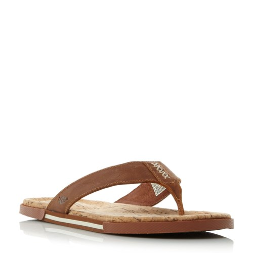 UGG Braven Cork Toe Post Sandals Tan b4LyTuYhZT