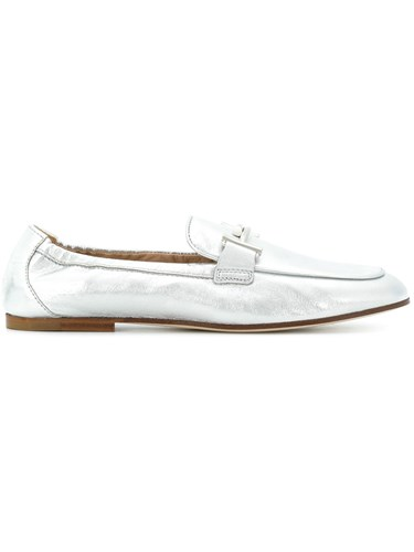 Tod's Double T Metallic Loafers D3DPxf7hB