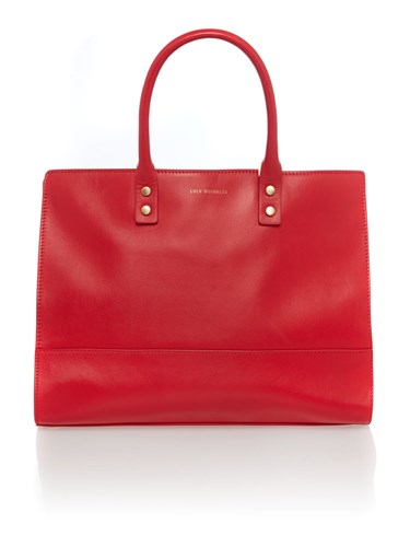 Lulu Guinness Daphne Large Tote Bag Red EF64gq
