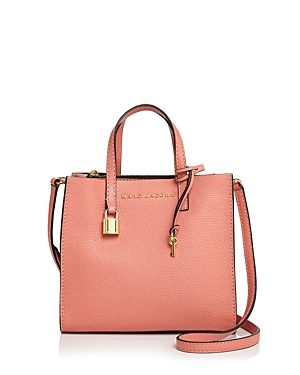 Marc Jacobs The Mini Grind Leather Crossbody Coral Gold Sa0Kp