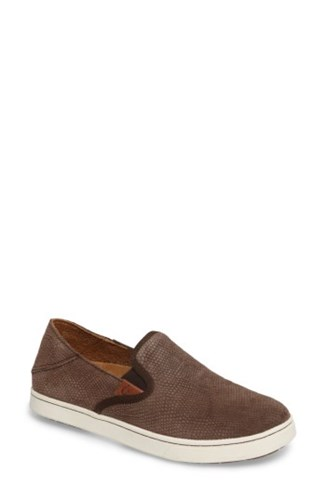 Leather Slip Sneaker Java Honu Pehuea Java Women's Dark On OluKai nTZHFqF