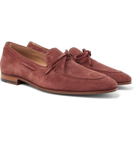 Tod's Suede Loafers Burgundy L5jRX1qh