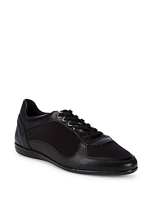 Versace Lace Up Low Top Sneakers Black IoQIZkYVf