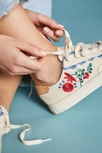 Soludos Ibiza Embroidered Sneakers Ivory ZLNfQlUk1r