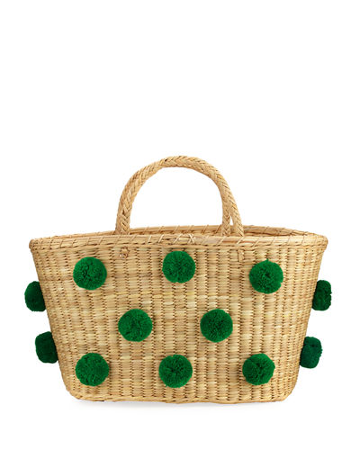 Nannacay - Cotio Joana Medium Raffia Tote Bag Green iRyG2XP