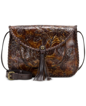 Patricia Nash Beaumont Small Flap Crossbody A Macy's Exclusive Style Bark Leaves qBXGA6z