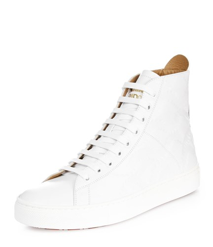 Vivienne Westwood High Top Trainers White Off White Squiggle Embossed TUtlccKf3V