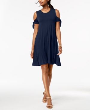 Style&co. Style Co Petite Cold Shoulder Tie Sleeve Dress Created For Macy's Ink q6xNC