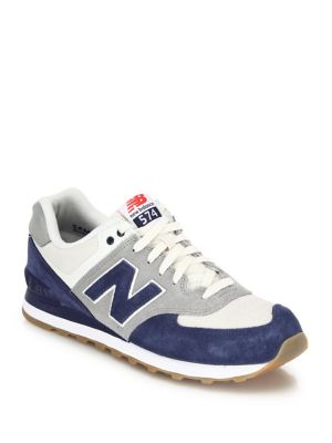 New Balance Mesh Panel Lace Up Sneakers Blue MH0Sj