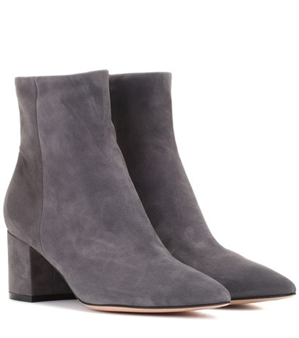 Gianvito Rossi Piper 60 Suede Ankle Boots Grey jb3az