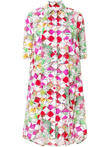 Ultràchic Dress Shirt Print Bloom Multicolour rXwYrfq