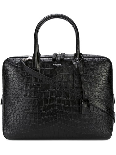 Saint Laurent Medium 'Museum' Briefcase Black FdxmnA4hYq