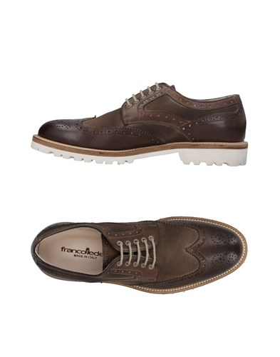 FRANCO FEDELE Lace Up Shoes Dark Brown E4XYmB6Pa