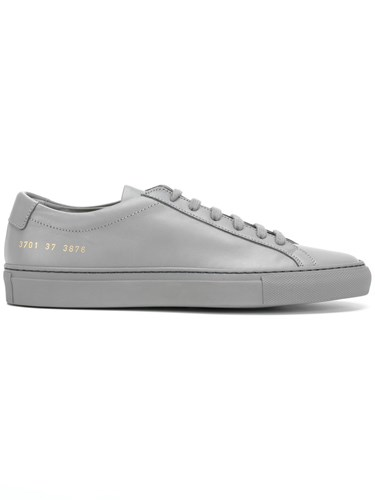 Common Projects Original Achilles Low Cut Sneakers Leather Rubber Grey CTsy2U2Aqw