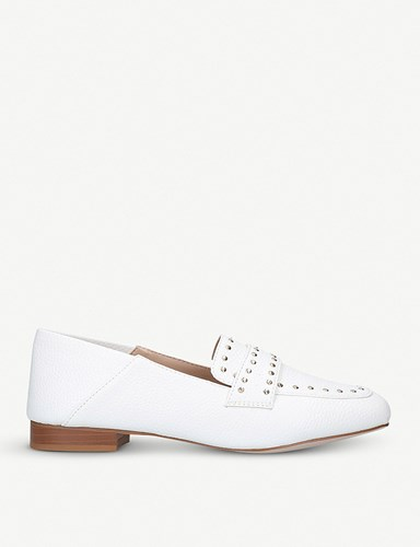 Miss KG Maize Studded Loafers White HTiZzL