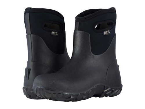 Bogs Workman Mid Black Men's Rain Boots 5GP3yaZ