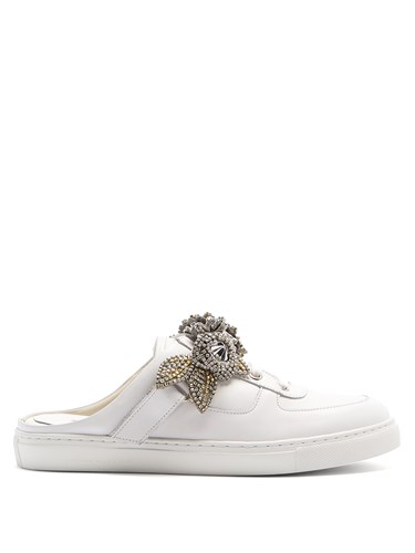Sophia Leather Jessie Silver Webster Trainers Backless Lilico White trqBt1xvw