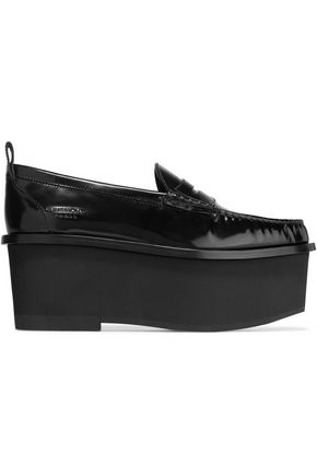 Givenchy Platform Loafers In Black Patent Leather Black 0V8B64J