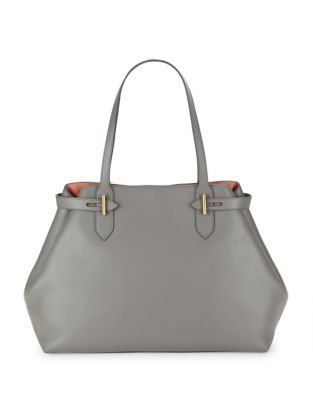 Anne Klein Collection Belted Leather Tote Peach RdYrojy
