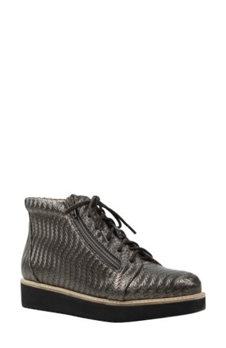 L'Amour Des Pieds Women's Xandrie Bootie Pewter Leather K3bpn