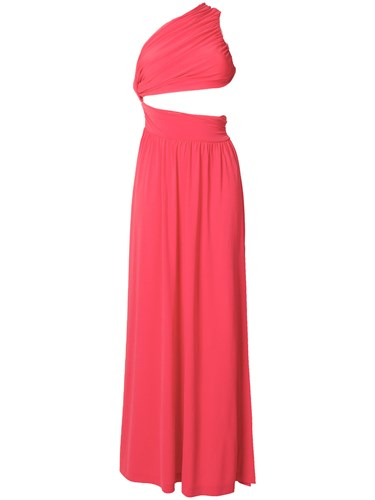 Pinko One Shoulder Cutout Gown Pink And Purple RE6upWp6
