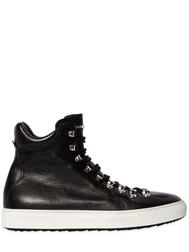 DSquared High Top Leather Sneakers MSWIKFv9k