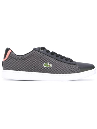 Black Women 40 Calf Rubber Cotton Leather Lacoste Polyester Lace Up Sneakers gwWx6tWvqT