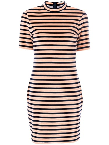 Alexander Wang T By Striped Dress Pink And Purple mtRGfDRQ7