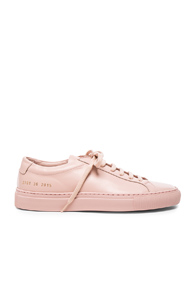 Common Projects Original Leather Achilles Low In Pink tQiK9