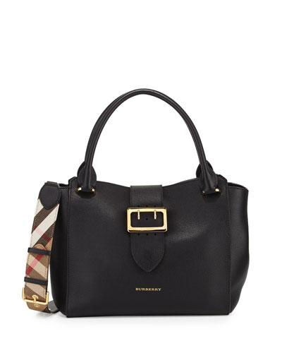 Burberry Buckle Medium Tote Bag Black ihjK0k