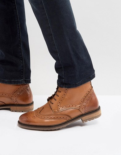 Silver Street Brogue Boots In Tan Leather Tan drVL8p