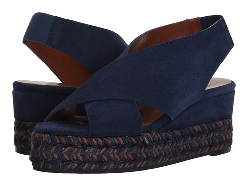 Aquatalia by Marvin K Jaida Navy Suede Shoes Blue UYHG2