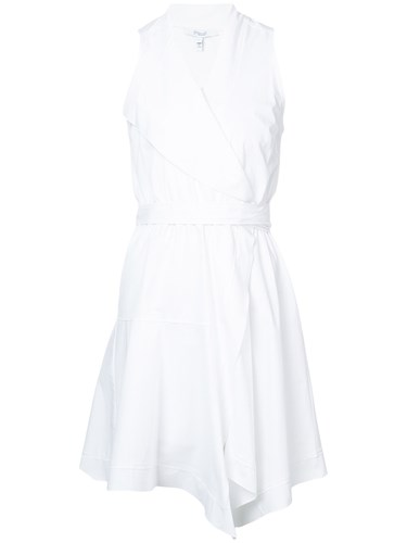 Derek Lam 10 Crosby Sleeveless Wrap Dress White 2pY8hsfuh