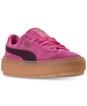 69d23816 Platform Rose Women's Winestasti Suede Carmine Casual Finish From Rugged  Puma Sneakers Line qREaxUqv