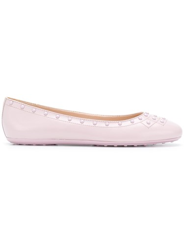 Tod's Stud Detail Ballerina Shoes Pink And Purple iNYZy2upu3