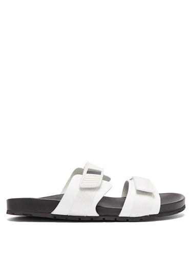 Prada Double Strap Sandals White nxt2jqnnRa
