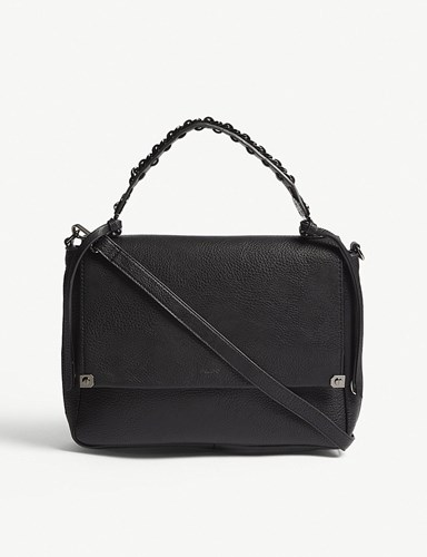 Aldo Bignomia Faux Leather Satchel Black Leather el9F6q