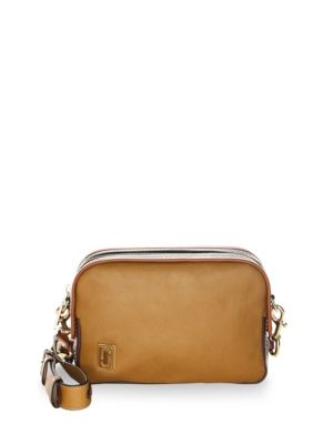 Marc Jacobs Squeeze Leather Crossbody Bag Mustard Black 0x9CyZLdn