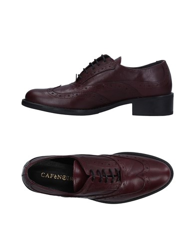 CAFe'NOIR Cafenoir Lace Up Shoes Maroon 13exf