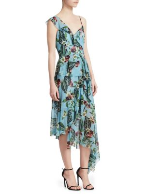 Nicholas Mayflower One Shoulder Ruffle Dress eQtUPn