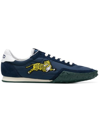 Kenzo Tiger Patch Sneakers Blue Nybax3pTdQ