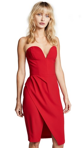 Amanda Uprichard Cherri Dress Scarlet VDjNl