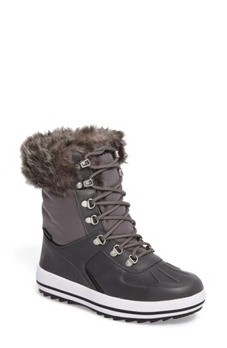 Cougar Women's Viper Waterproof Snow Boot With Faux Fur Trim Grey 40OUmDP0J