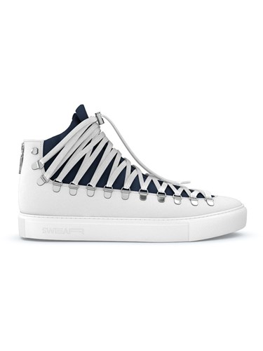 Swear Exclusive Calf Leather Nappa Leather Suede Rubber White MrWEs73O