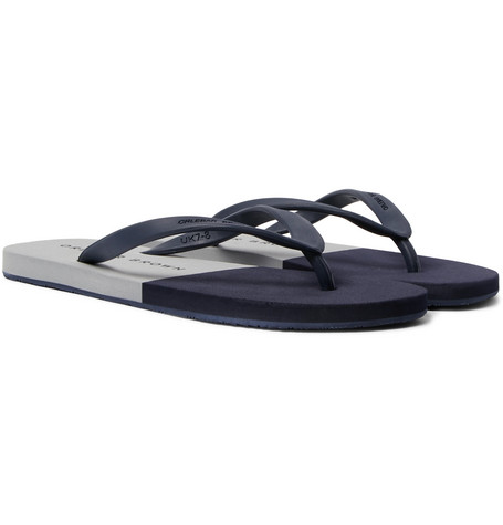 Orlebar Brown Haston Rubber Flip Flops Gray dPjea