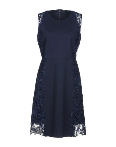 Elie Tahari Short Dresses Dark Blue BfGrvh