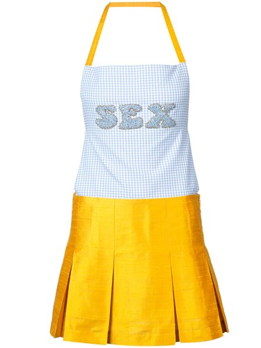 Dress Eric Sex Apron Blue Schlosberg X1pqxq8FSw